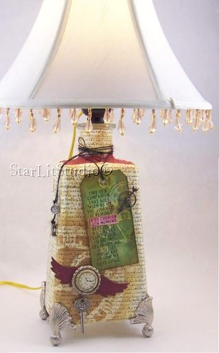Altered tequila bottle with shade