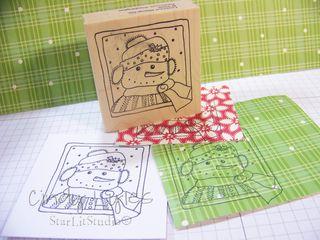 Snowman card 4