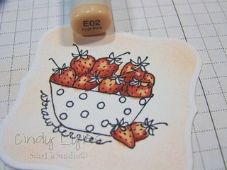Strawberry card 3