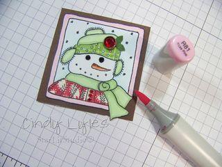 Snowman card 8