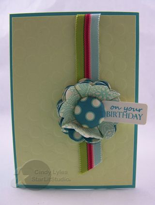 Birthday strano ribbon card 2