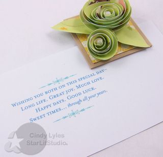 Wedding roses card 3