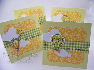 Hot air balloon card 1