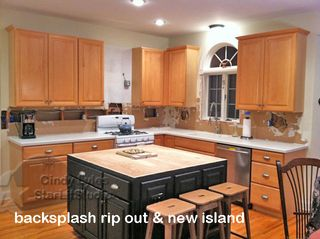 Backsplash rip out