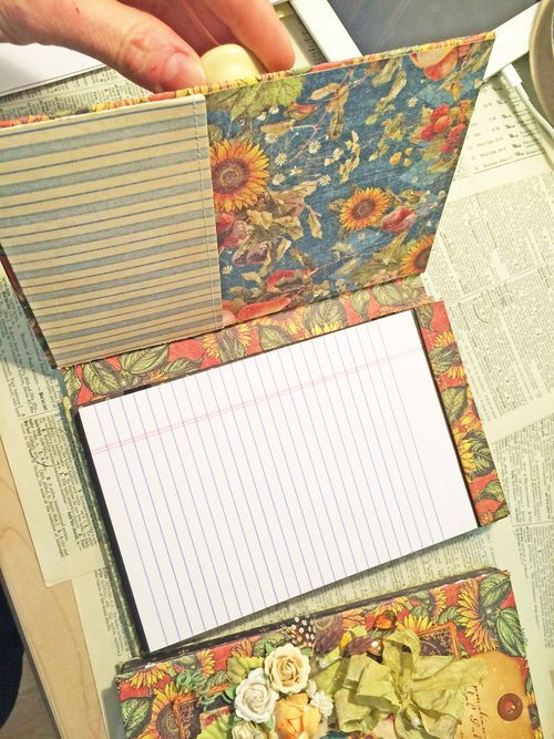 French country notebook interior