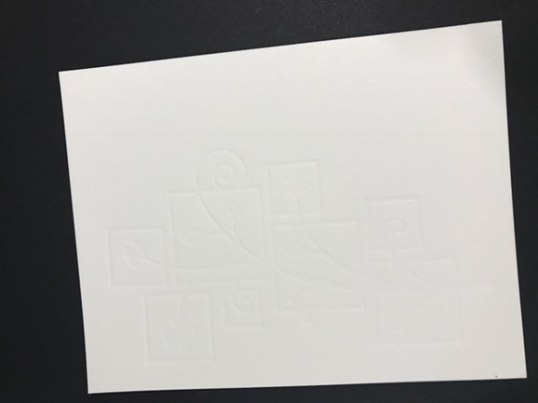 Starlitstudio embossed die on watercolor cardstock