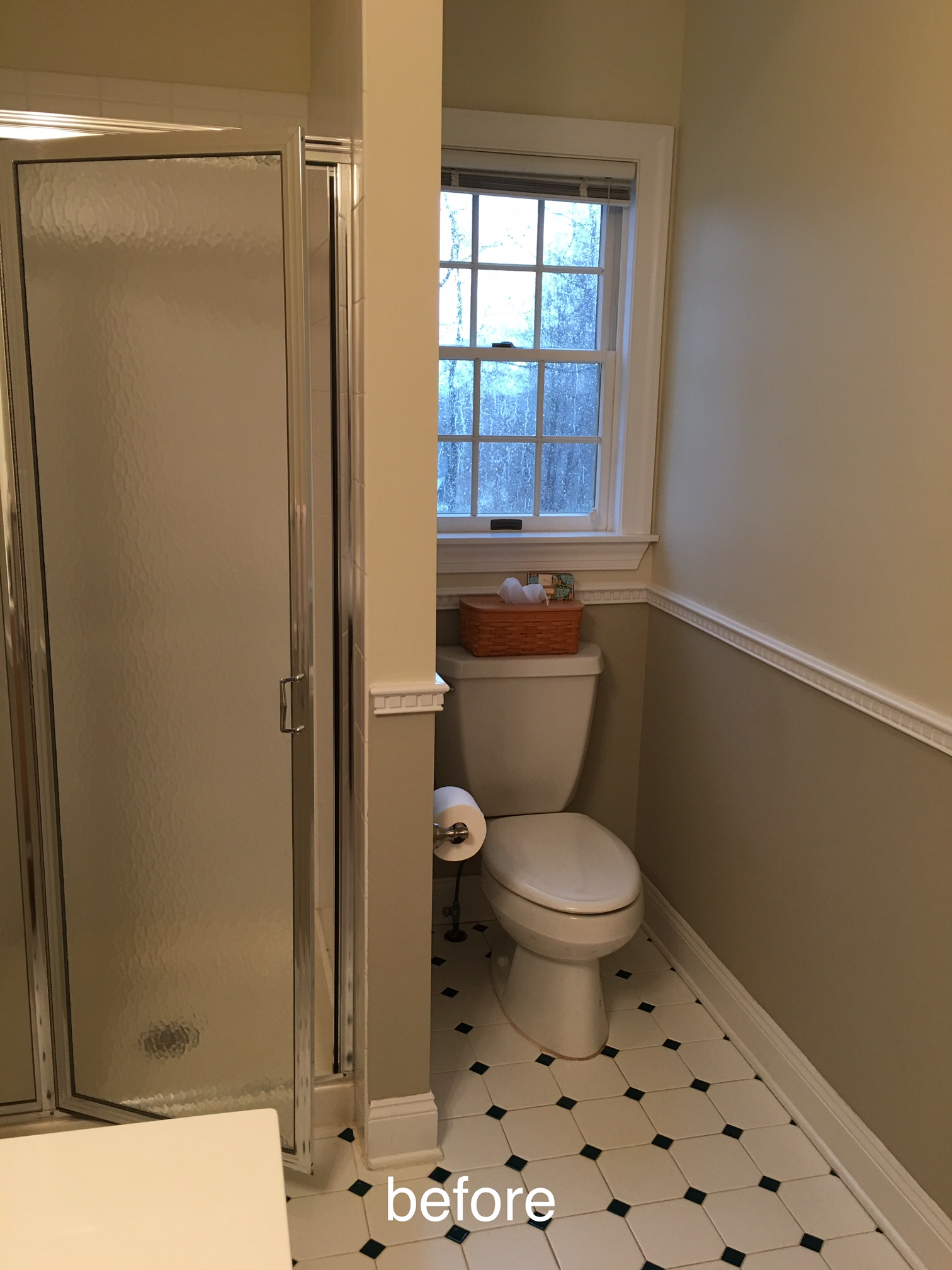 Vintage I wrapped the room in tile no baseboards to clean I hate cleaning baseboards Wrapping the toilet area in tile was important to me I never want to