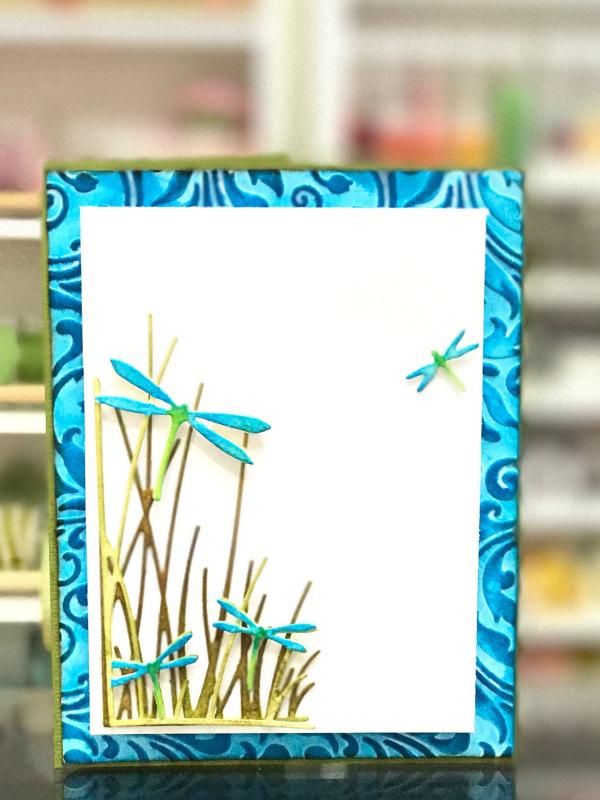 Starlitstudio Memory Box Dragonfly Card