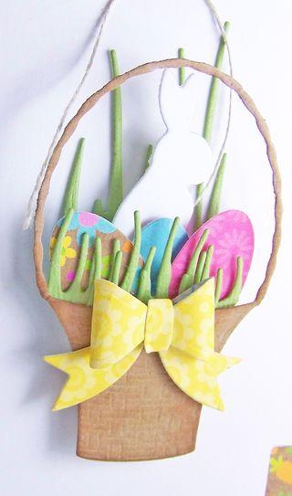 Easter basket large close up