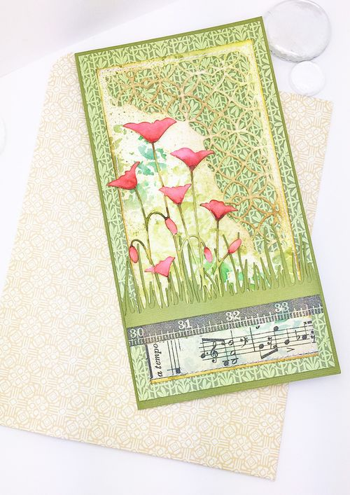 Poppies with envelope