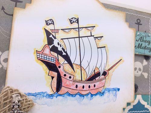 Ship card close up image