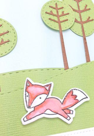 Belated fox close up
