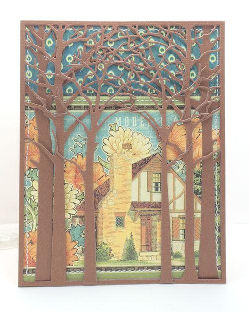 House through trees