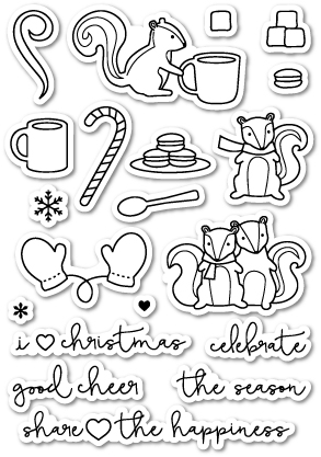 Cup of cheer poppystamps set