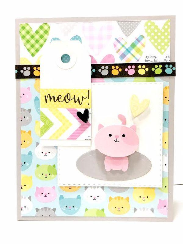 Doodlebug kitten smitten card