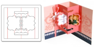 Card with floating frames 3-D